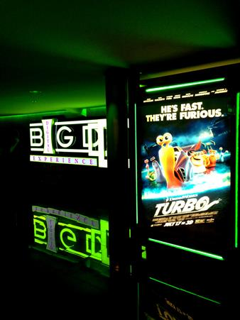 Turbo movie poster at Carmike