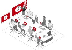 Networked solution for meeting & training rooms