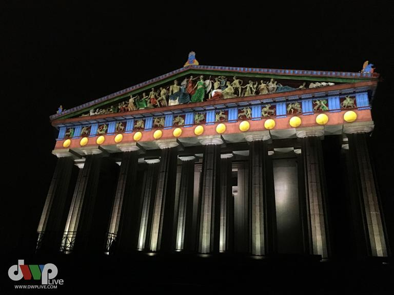 Nashville Parthenon shines brilliantly in original colors