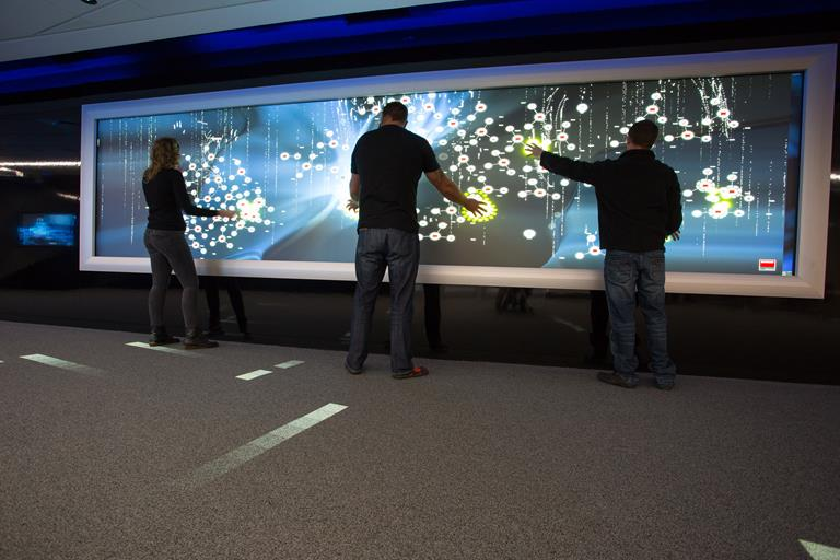OSV collaboration wall guides visitors through Experience Center