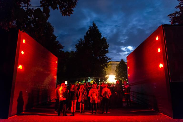 Barco helps 'make walls talk' at Genius Loci Weimar AV art festival