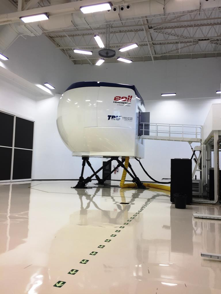 Barco helps bring certified realism to TRU's full-motion Bell 429 simulator
