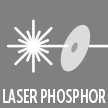 Laser phosphor projection