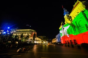 Projection mapping for the 50th ASEAN Day Celebrations