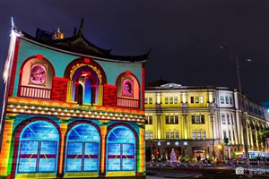 Taiwan lantern festival projects history on monuments