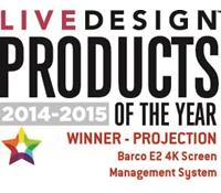 E2 - Live Design product of the year 2014-2015
