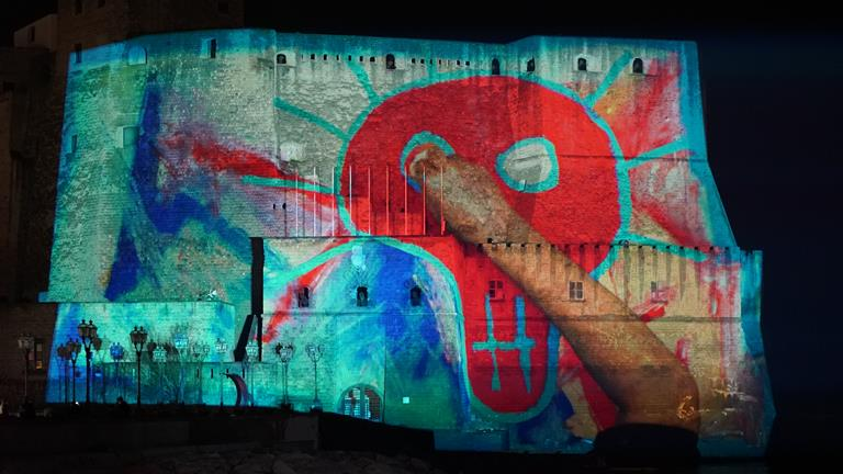 Barco inspires digital artist Franz Cerami to brighten the city of Naples