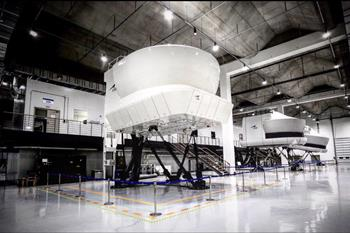 CAE external view of flight simulator