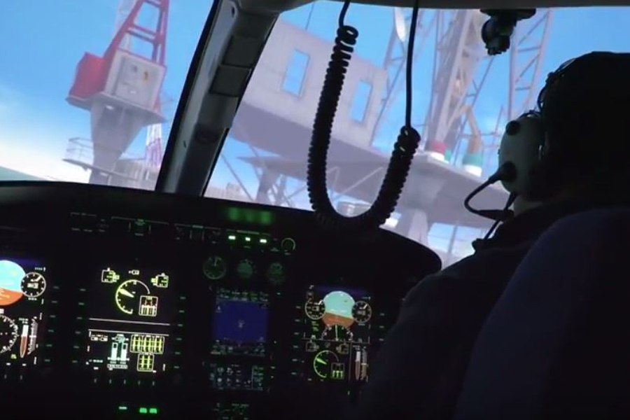 TRU's full-motion Bell 429 simulator