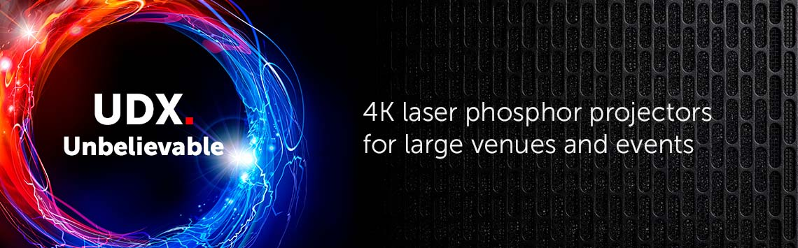 UDX: 4K laser phosphor projectors for large venues and events