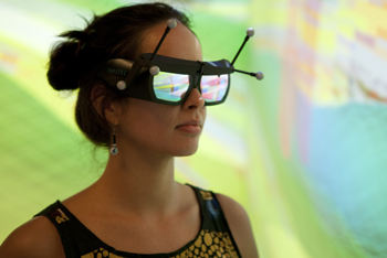 Potsdam University girl with VR glasses
