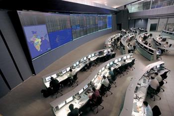 Network control center seen from above