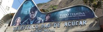Brazil celebrates Harry Potter premiere on top of Morro da Urca, Rio de Janeiro, in presence of actor Tom Felton and Barco