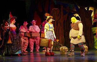 Projection for Shrek The Musical