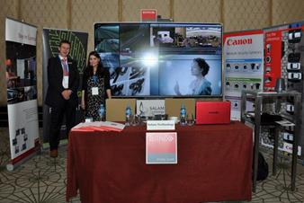 Barco and Salam Technology booth at ITS & Road safety forum 2013