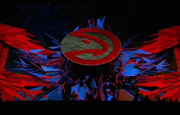Atlanta Hawks Projection Mapping