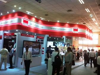 Live pic Barco booth smart cities India