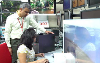 Barco employees at work in Noida, India