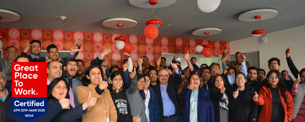 2020 Best Places To Work Barco is among India's Best Workplaces, certified by Great Place