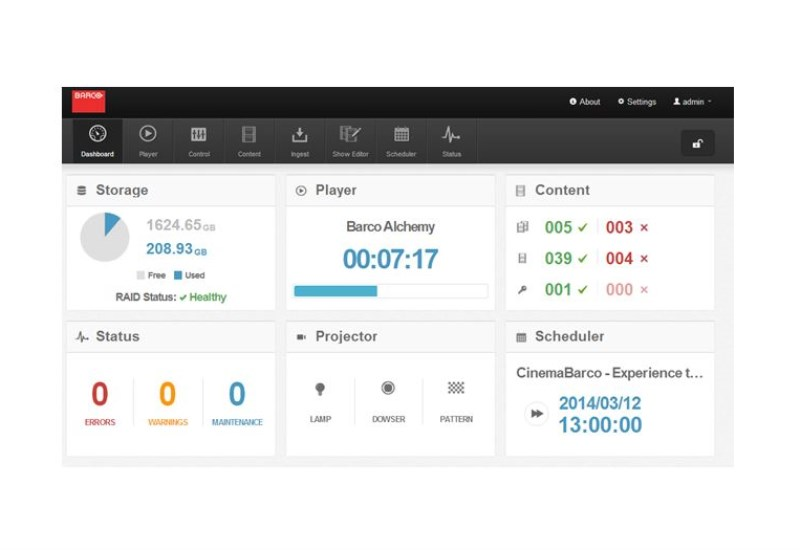Web Commander dashboard