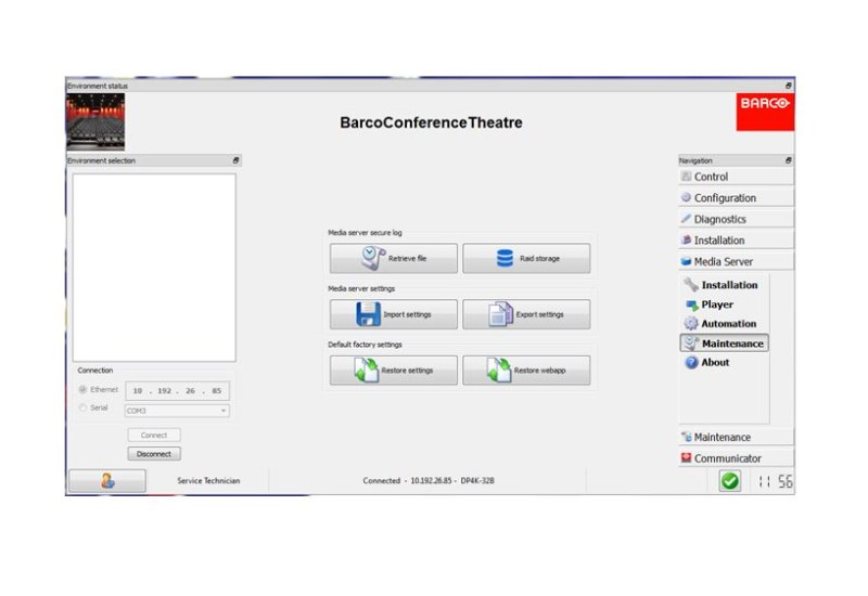 Barco Communicator software