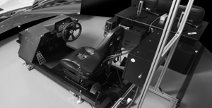 Driving simulator using Barco's FL40 projector