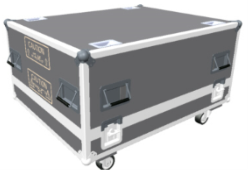 Flight case for UDX projector