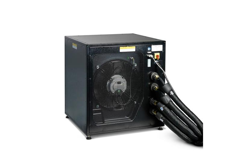 Back view of XDL cooling unit black on white