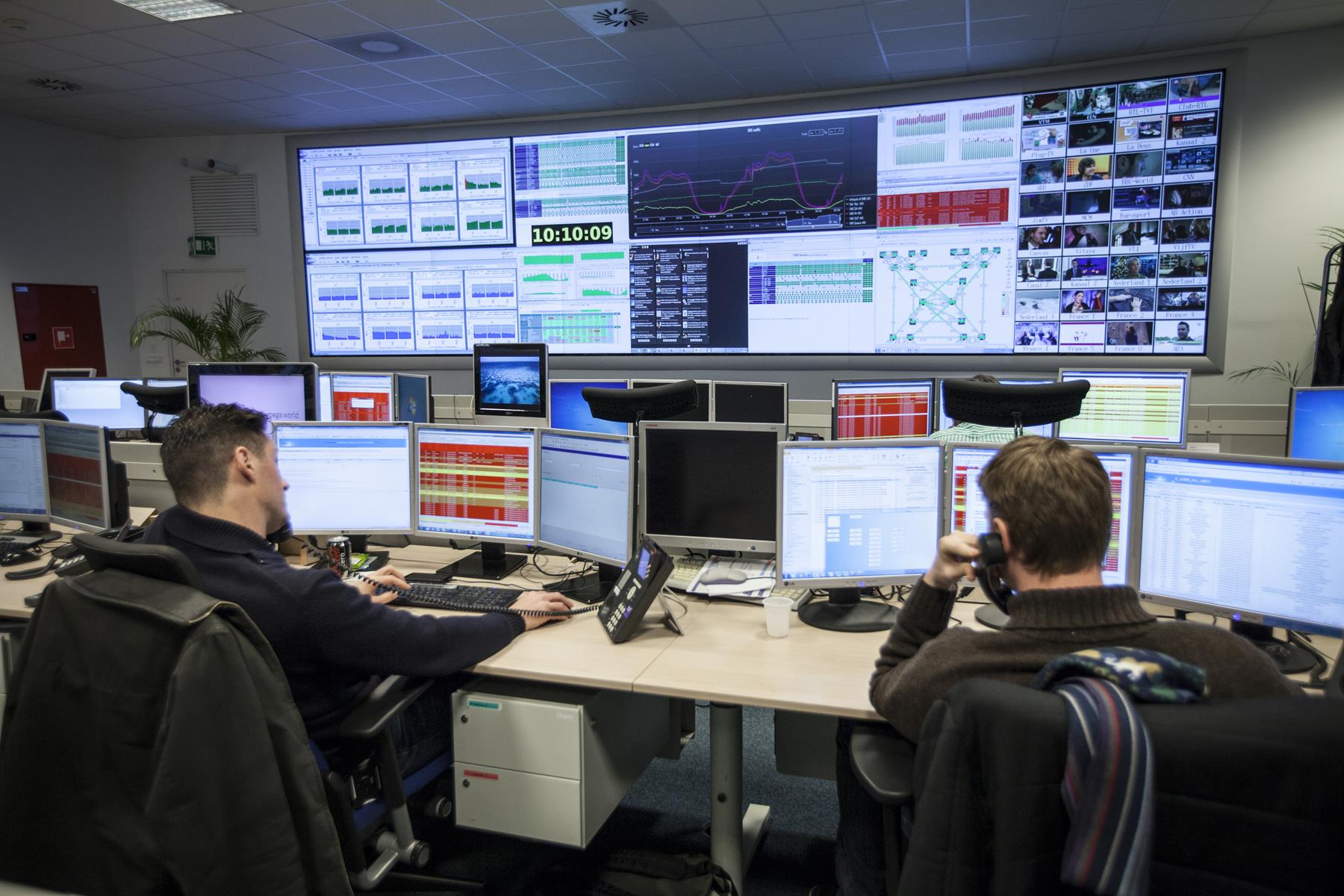 Belgacom Network Operations Center Barco