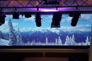 Projection technology for trendy Proximus Lounge event location