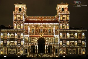 4K projection mapping onto Villa Medici facade