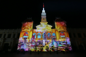 3D mapping celebrates the 40-year anniversary of Ho Chi Minh City in Vietnam