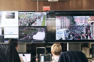 Dispatching on-the-go ensures security during Flemish cycling classic