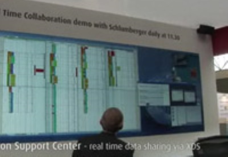 On/offshore collaboration demo with Schlumberger
