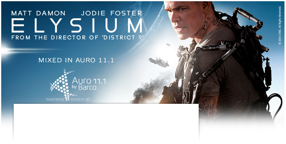 Elysium mixed in Barco's immersive sound